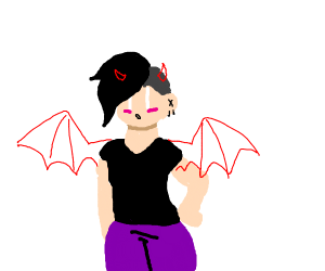girlfriend looking demonic