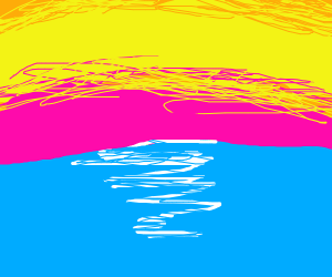 Sunset over a sea