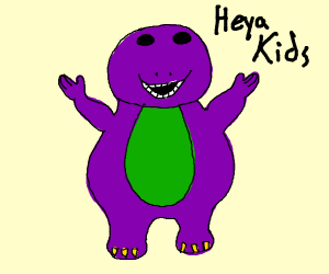 barney with no neck