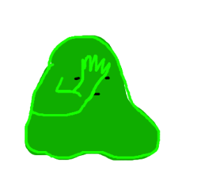 Disappointed pile of green mush