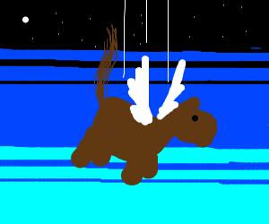 A falling flying horse