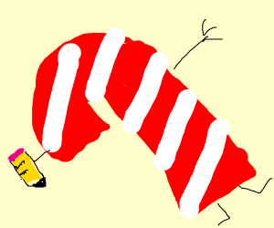 Drawception D is replaced by Candy Cane