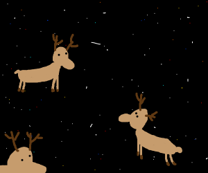 Deer in space