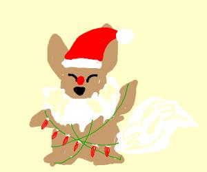 Christmas Eevee.Christmas Eevee Drawception