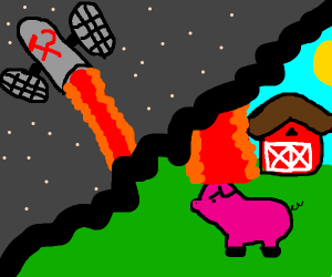 Soviet Satellite Kills a Pig with Laser Beam