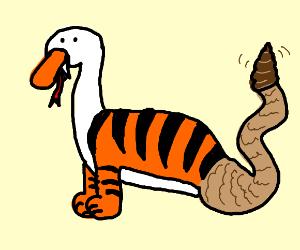 goose-tiger-snake mix