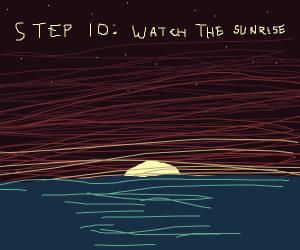 Step 9 : go outside, gaze upon the stars