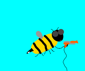 Bee with a Nintendo Zapper