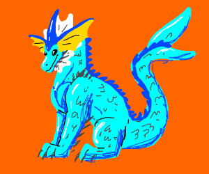vaporeon but as a dragon