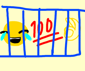 a bunch of emojis behind blue bars