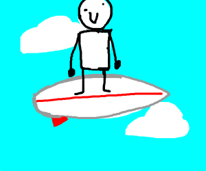 surfing on the sky!