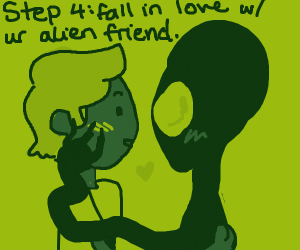 Step 3: Go with ur alien friend to probe ppl