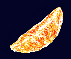 an orange slice (give it to ant man)