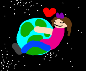 lady obsessed with earth