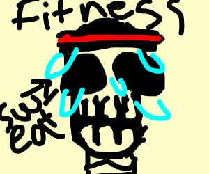 a fitness trainer turned into a skeleton