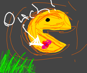 Pac-Man getting attacked