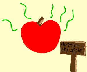 a shady apple