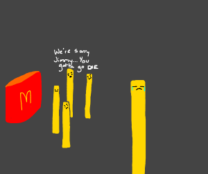 fries deciding which one gets to live