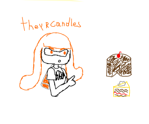 Inkling says cakes are candles