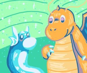 dratini and dragonite