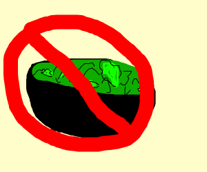 A salad is not allowed inside