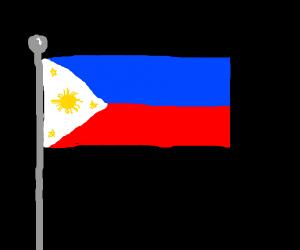 Philippine flag!!! (p.s I'm a Filipino, skl)