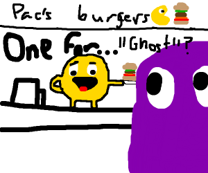pacman says that purple ghost has ordered