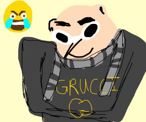 Gru wearing gucci (aka Grucci)