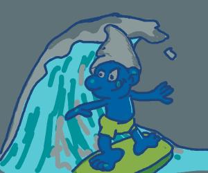 Smurf surfing