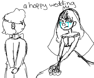 a sad wedding