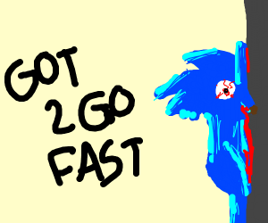 Sonic went too fast
