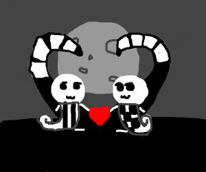 scene an goth love