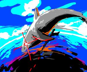 eXtreme laser shark paintball!