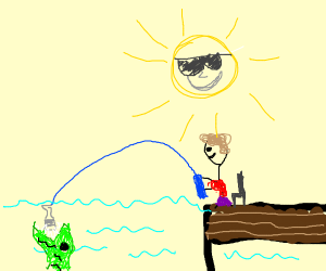 Fishing with a Bottle