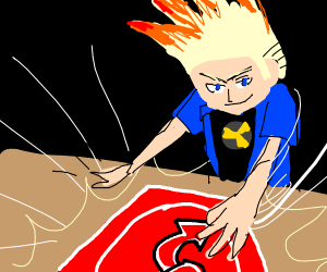 Johnny Test uses the reverse Uno card