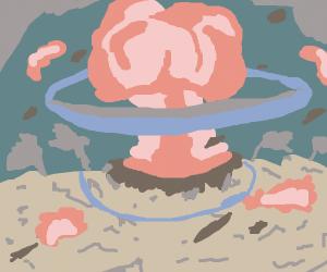 Atomic bomb explosion