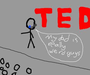 TED Talk presenter talks about his weird dad