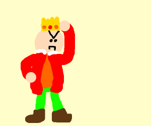 The mad king and his crown