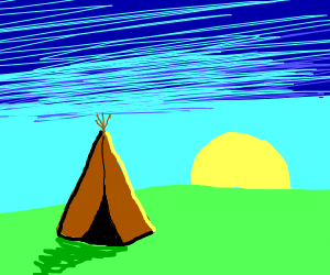 Teepee in the morning light