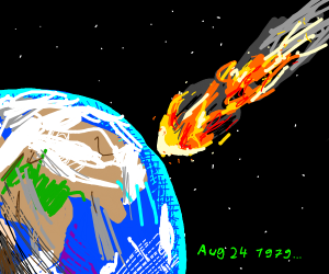 meteor hits the earth om August 24, 1979