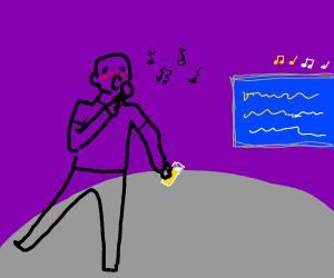 Bad drunk karaoke