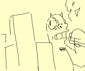 Demon ravages the city