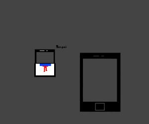 Looks like Ipad has a crush on a Iphone now