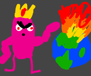 Pink king takes over the world