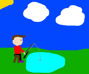 guy fishing for