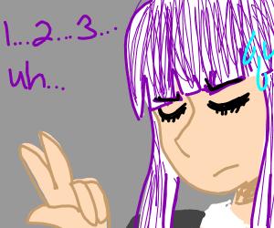 detective girl counts using her fingers