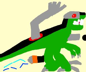 a robot dinosaur