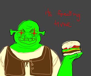 shrek and burger