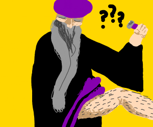 Wizard can't figure out how to shave