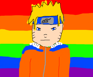 Naruro with pride background